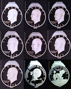 Liberty-Eagle-Ike-Eisenhower-Silver-Dollar-Money-Clip-Cut-Coin