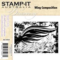 Stamp It Wing Composition Ez Mount Rubber Stamp Shabby Chic Flourish