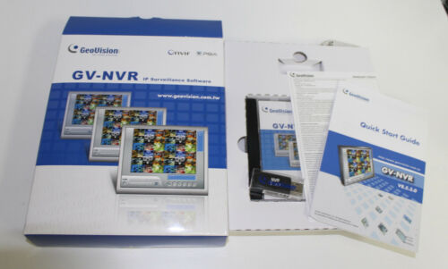 Genuine Geovision 2 Channel 3rd Party NVR IP Software with USB Dongle Onvif PSIA