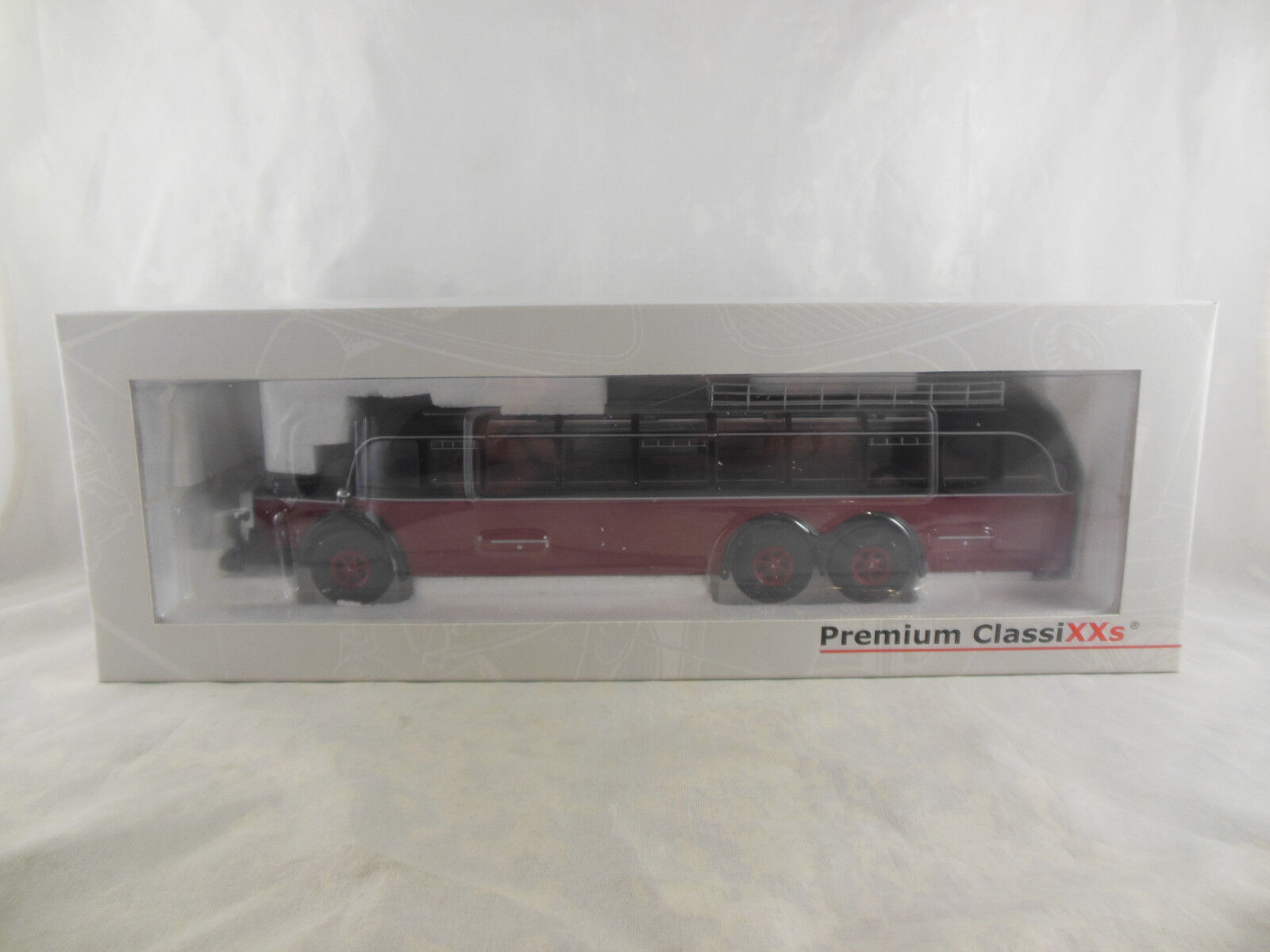Premium Classixxs ref 12300 Mercedes Benz o 1000 entrenador Rojo y Negro 1 de 1000
