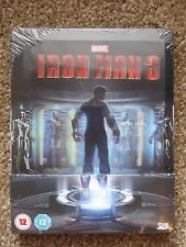 Iron Man 3 Lenticular Magnet 3D/2D Blu-Ray Steelbook Region Free Marvel Sealed