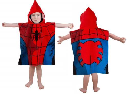 Kinder Mädchen Jungen Charakter Poncho Schwimm-Handtuch Neuheit Bade Kapuzen