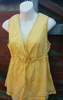 BNWT BODEN Yellow/White Ditsy Spot Top, Embroidered Detail, Size 16