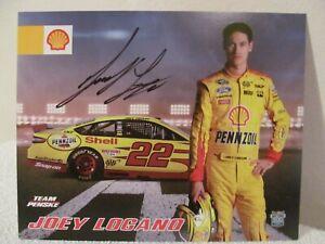 "2016 JOEY LOGANO /""SHELL PENNZOIL FORD FUSION/"" #22 NASCAR SPRINT CUP  POSTCARD"