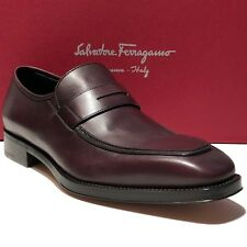 417e6499221 Ferragamo Brown Leather Fashion Penny Dress Loafers 10 EE Mens Welted  Moccasin