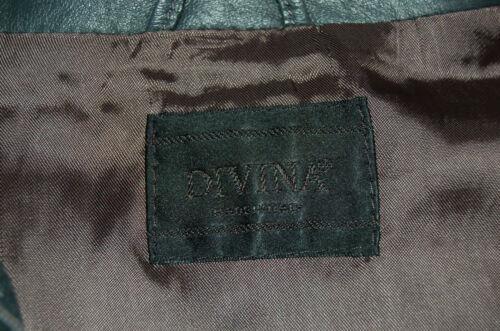 Pelle En Zippée 44 Veste Cuir Foncé Sz En Fabriqué Cuir Divina En Italie Veste Vera Bleu 1q0AFA
