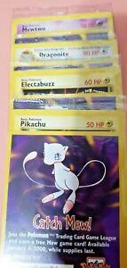 Pokemon COMPLETE WB Card PROMO Electabuzz Mewtwo Pikachu Dragonite # 2 3 4 5 New