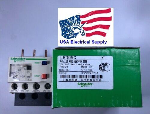 LRD05C Schneider Thermal Overload Relay  0.63-1 Amp.