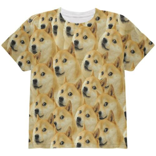 Doge Meme Funny All Over Youth T Shirt