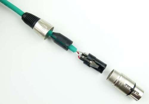2x 0,5 m Mikrofonkabel Adam Hall K3 MMF 0050 GRÜN 3-Star XLR DMX Mikrofon Kabel