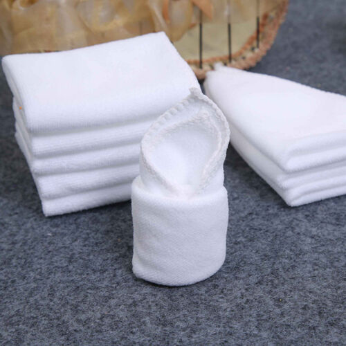 2//6//10x White Square Microfiber Car Cloth Towel Home Kitchen Wash Cleaning Cloth