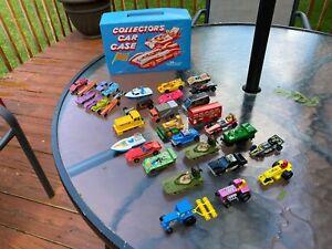 Retro-Lote-de-33-vehiculos-Die-Cast-9-Tootsie-Toys-8-Hot-Wheels-13-Matchbox-3-tintoys