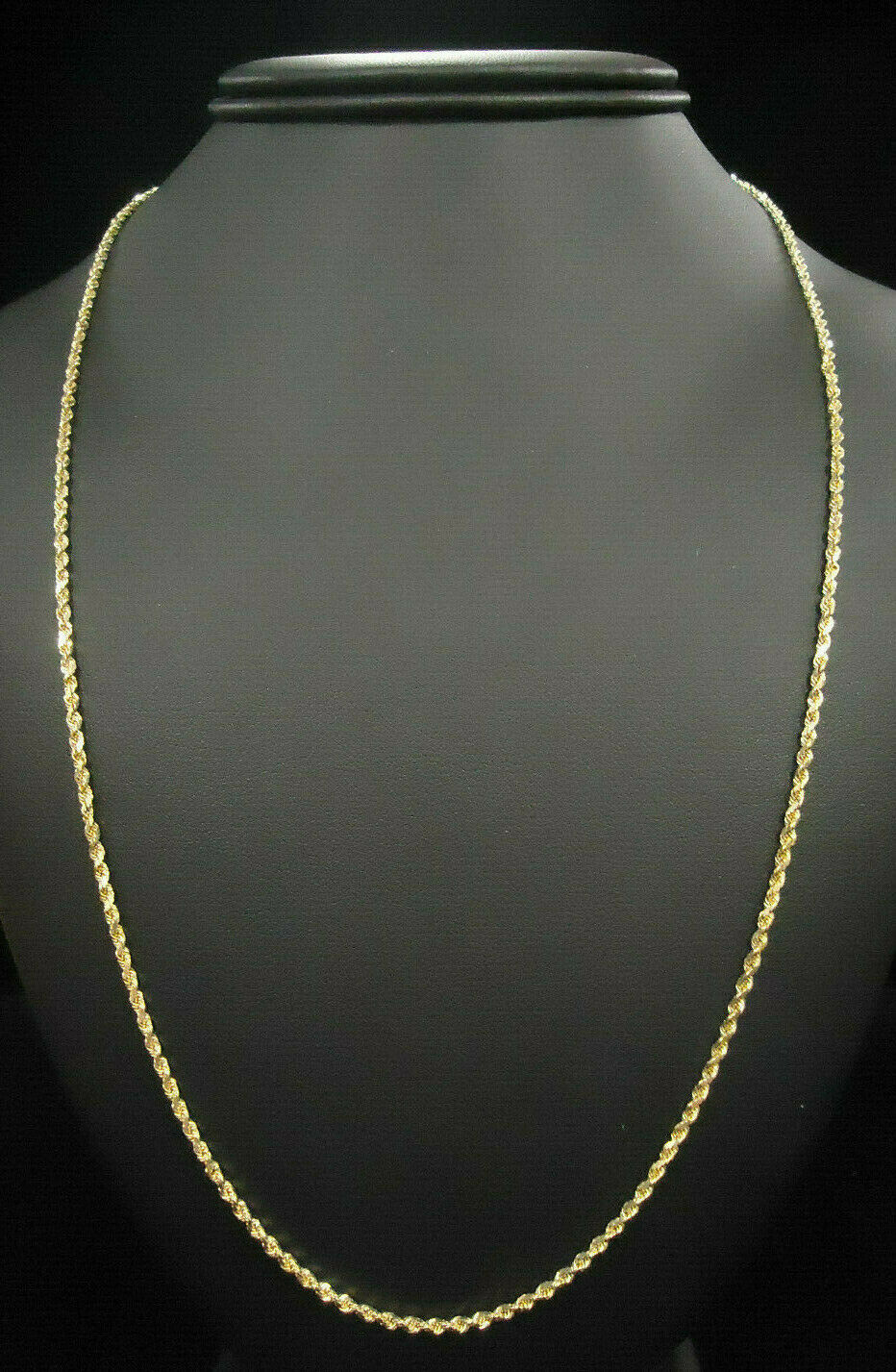 (MA2) 18K Yellow gold Rope Chain - 12.1g - 30.25 in - 1.6mm