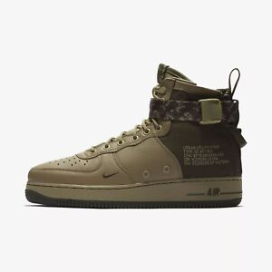 Nike-Men-039-s-Air-SF-AF1-Mid-Shoes-NEW-AUTHENTIC-Olive-Cargo-Khaki-917753-201