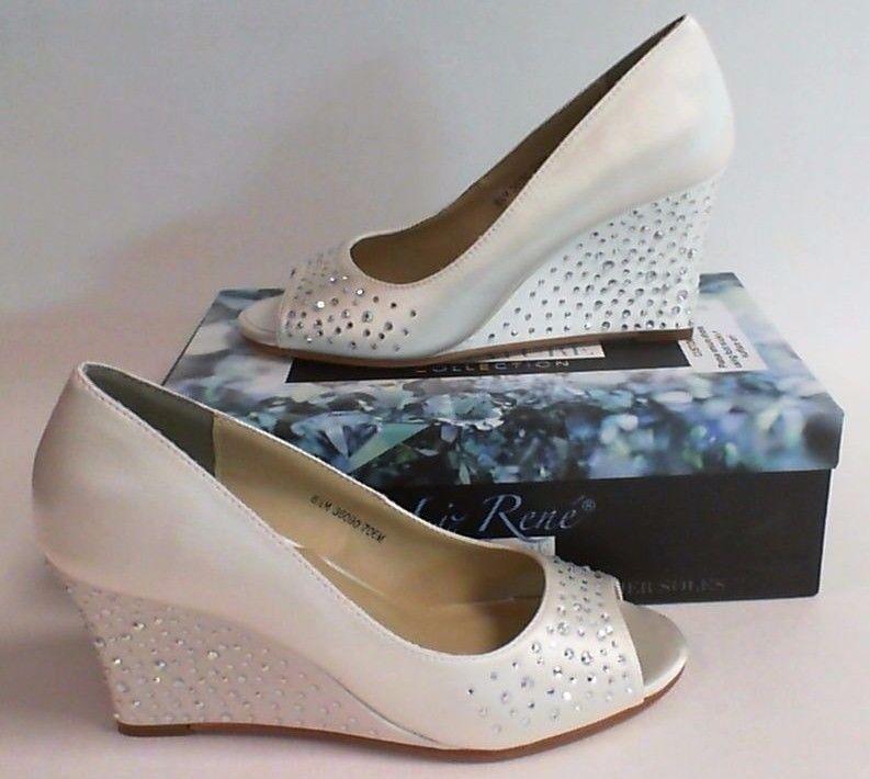 Liz Rene Wedding Shoes- Kathy - White - 706- US Size: 9M UK 6.5 #15L368