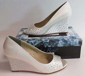 Image Is Loading Liz Rene Wedding Shoes Kathy White 706 Us