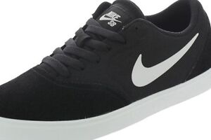 Tierra Fanático Sabueso  705266-001 Nike SB Check (GS) Black/White Canvas Skateboarding ...