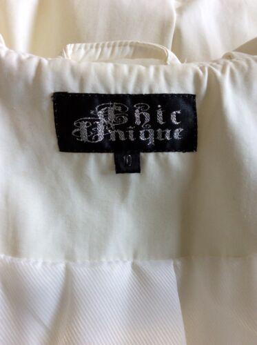 Unique Frakke Chic Breasted Bælte Mac White Double 10 Tie Størrelse dqPn7rP0v