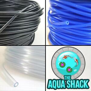 Air-Line-Flexible-Silicone-for-Aquarium-Air-Pump-4mm-Hose-Tubing-Pond-Blue-Black