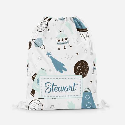 Personalised Boys Dinosaur Dino Kids Drawstring Bag Pe Bag Swimming School Bag