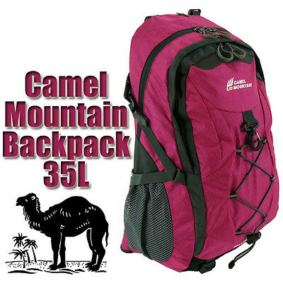 adf0027148d NEW 35L LARGE BAG HIKING MOUNTAIN TRAVEL BACKPACK SPORTS RUCKSACK CAMPING  MAROON
