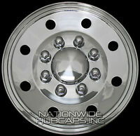 4 Chrome 16 Hub Caps Rim Covers Horse Flat Bed Enclosed 5th Wheel Boat Trailer