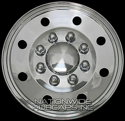 "4 CHROME Ford Truck Van 16"" 8 Lug Wheel Covers Hub Caps 4 Steel Wheels Rim Skin"
