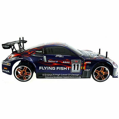 Rc Drift Car HSP 94123 4wd 1/10 Electric Flying Fish Drifting On-Road High Speed