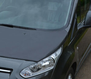Black-Front-Bonnet-Bra-Protector-To-Fit-Ford-Transit-Connect-2012