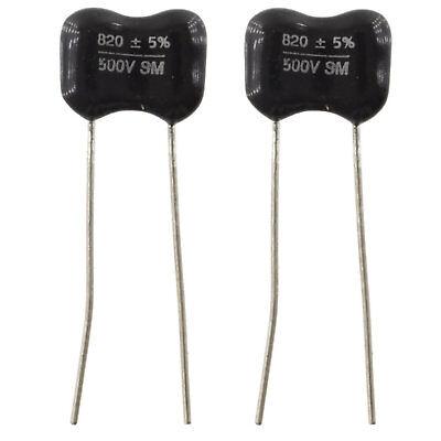 2 Pieces 5/% Radial Cap 120pf @ 500VDC Black Silver Mica Capacitor