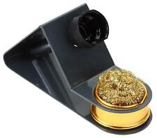 SOLDERING IRON Spring Holder / STAND with Wire Wool BRASS BALL