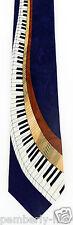 Keyboard Swirl Mens Necktie Piano Music Keys Pianist Musician Blue Neck Tie New