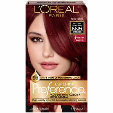 Loreal Superior Preference Hair Color Rr04 Intense Dark Red   eBay