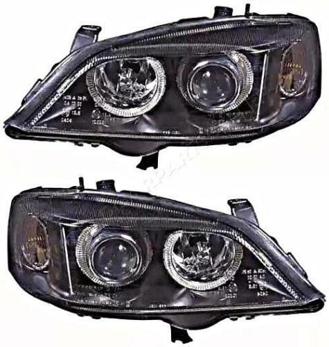 Opel Astra G 1998-2004 Electric Headlight PAIR Black Inside LEFT RIGHT LH RH