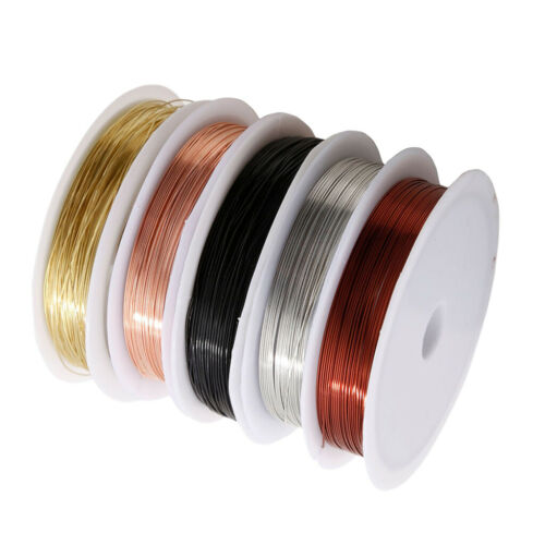 0,4mm Kupferfaden Basteldraht Schmuckdraht Kupferdraht Bastelschnur Kupferfaden