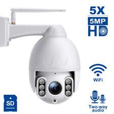 Anpviz 5MP Outdoor IP PTZ câmera Wifi Speed Dome 5X Zoom Óptico Infravermelho 50m Onvif