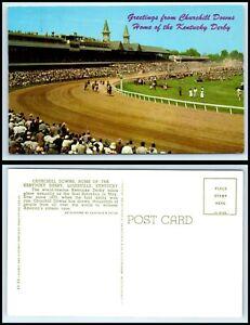 KENTUCKY-Postcard-Louisville-Churchill-Downs-Kentucky-Derby-L42