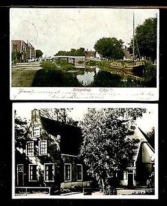 NEDERLAND-1906-1949-SCHAGERBRUG-2-x-AK-FRAAI-PRACHT