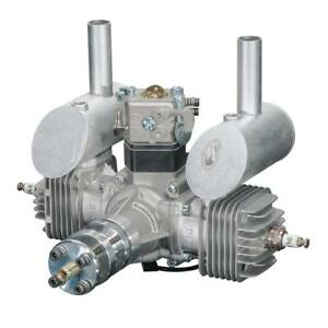 DLE-Engines-DLE-40cc-Twin-Gas-w-Elec-Ignition-amp-Muffler-DLE-40