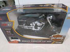 Terminator New Bright Harley Davidson black Fat Boy Motorcycle R/C action figure