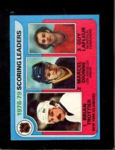 1979-80-TOPPS-3-BRIAN-TROTTIER-MARCEL-DIONNE-GUY-LAFLEUR-NM-LL-HOF-X5090