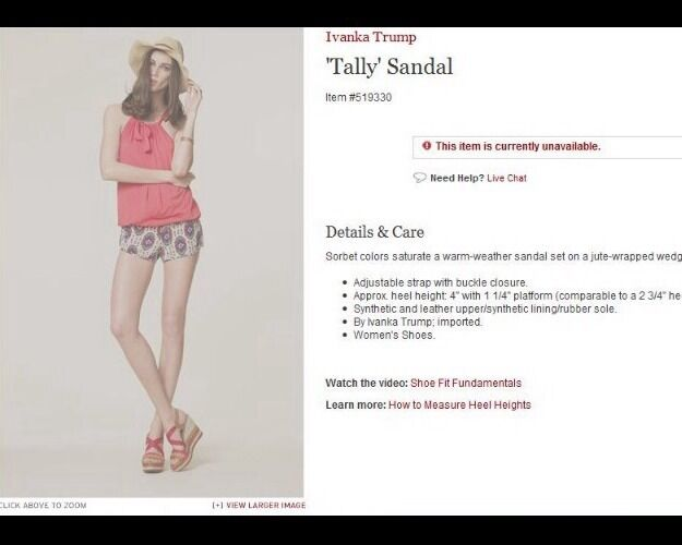 New New New Ivanka Trump tally schuhe Größe 8.5 Wedges Strappy Fashion Sandals 055658