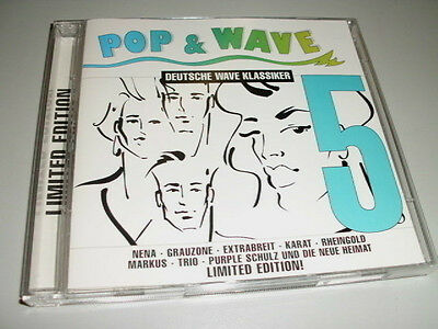 POP & WAVE DEUTSCHE WAVE KLASSIKER VOL.5 LIMITED ED 2 CD 'S MIT NENA EXTRABREIT