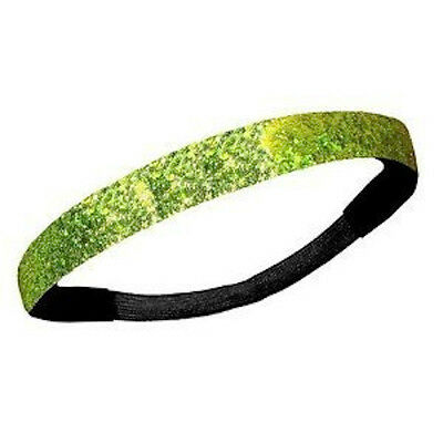 NEW! Lime Green Glitter Headband Glittery Sport Running Softball Basketball