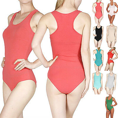 Sexy Fitted Sleeveless Scoop Neck Juniors One Piece Leotard Bodysuit Dancewear