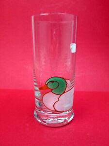Wasserglas neu Longdrinkglas LEONARDO Glas Enten Dekor grün weiss gold