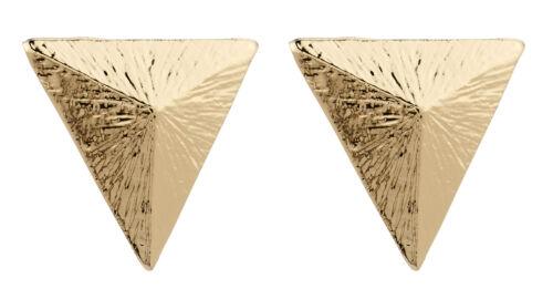 Pendientes de clip-Oro Pendiente De Lujo Stud Triángulo-Beth por Bello London