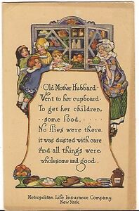 Old mother hubbard poem