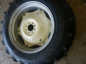 TWO-13-6x28-Massey-Ford-R-1-Tractor-Tires-for-Replacement-Spin-Out-Wheels