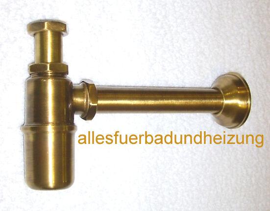 Flaschensifon Flaschen- Sifon Syphon für Waschtisch Bronze 11 4